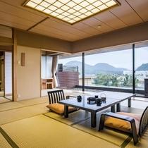 「露天風呂付客室富士山ビュー広々空間」は続き間