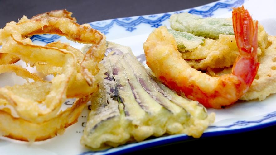 【夕食一例】季節の野菜天ぷら