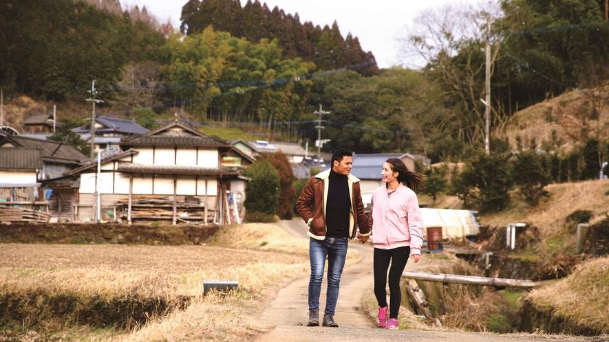 【イメージ】つばき庵周辺は絶好のお散歩コースです