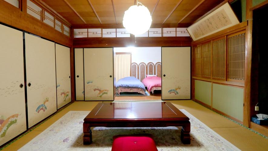 【客室】1F8畳和室&ベッドルーム