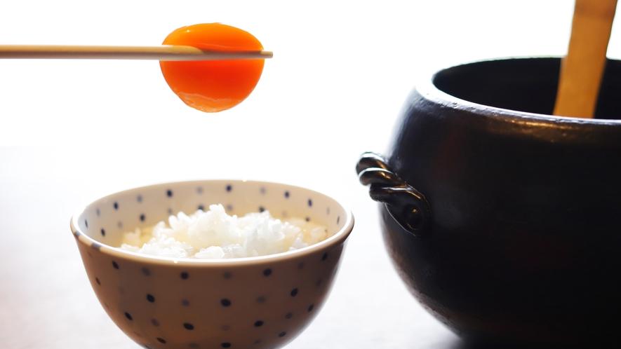 朝食 桑卵の卵かけご飯 イメージ