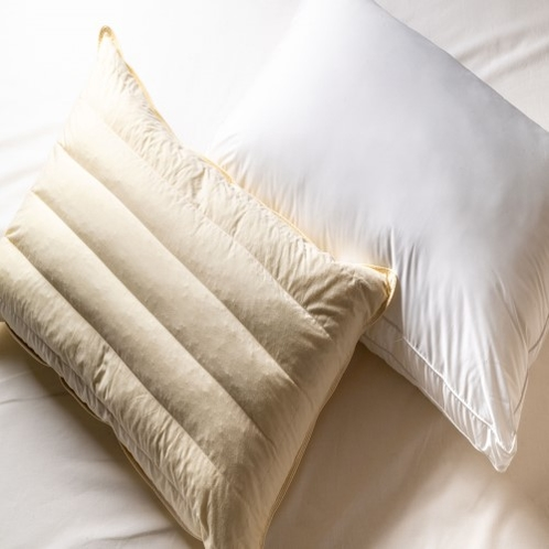 貸出用枕を2種類用意しております。
