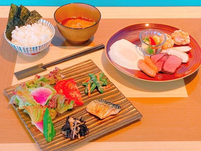 朝食一例(和食) バイキング形式よりセットメニュー形式に変更しております。