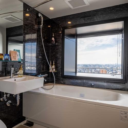 天空フロア ラグジュアリービューツインの浴室