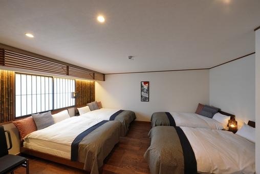 2DK 広々60平米 洋室+和室 キッチン付 8名利用可