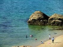 貸別荘前の海の様子