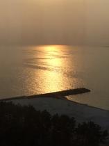 大阪湾へ沈む夕陽③