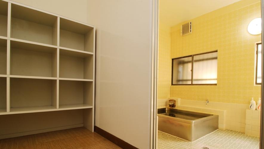 ■【お風呂】広々と使える脱衣所大浴場もございます。