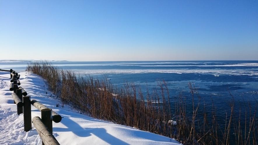 見渡す限り、オホーツク海と流氷