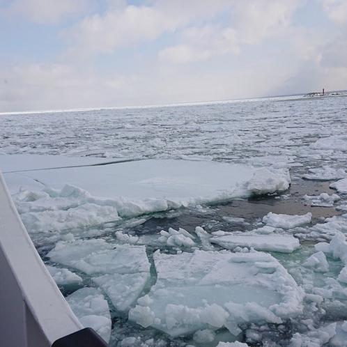 日中の気温がプラスなのにこんなに大きな流氷が…