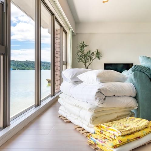 布団セットご用意で最大8名様まで宿泊可能。