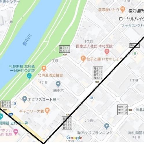 チェックイン場所のHOTELPORTEまでの道順