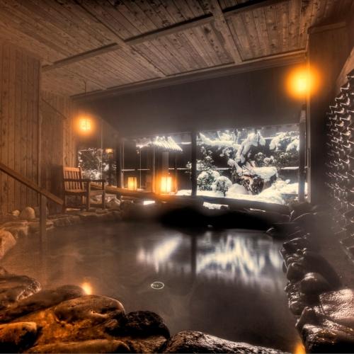 ≪壱の湯≫冬の露天風呂