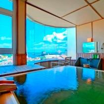 特別室Aタイプの展望温泉