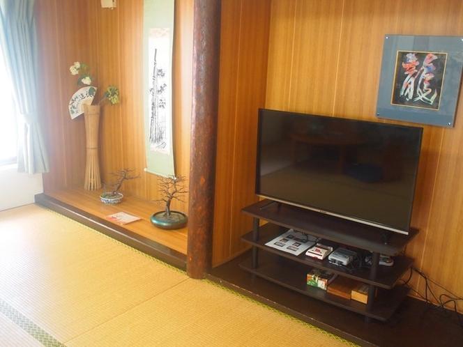 2階にはテレビを設置しております。