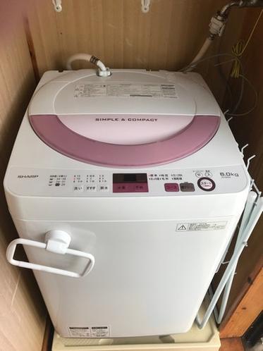 洗濯機(ベランダに干せます)