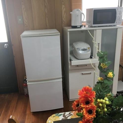 冷蔵庫、ポット、レンジ、炊飯器、トースター等