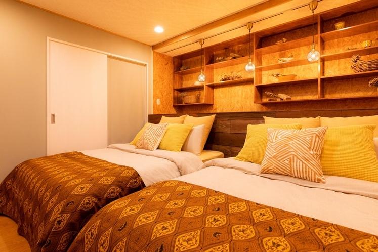 Living Room Large-sized Bed×2, リビングルーム ダブルベッド×2