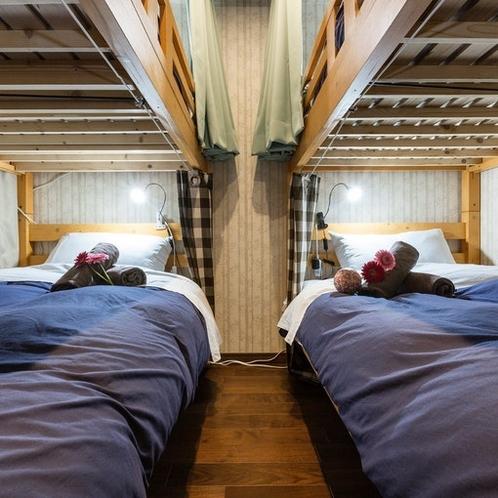 4名様利用 2段ベッド 2階