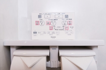 Control panel for toilet