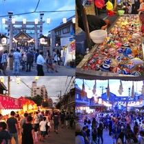 Local Shrine festival in Summer