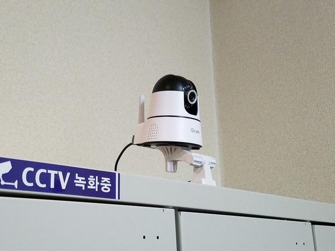 防犯カメラあります。