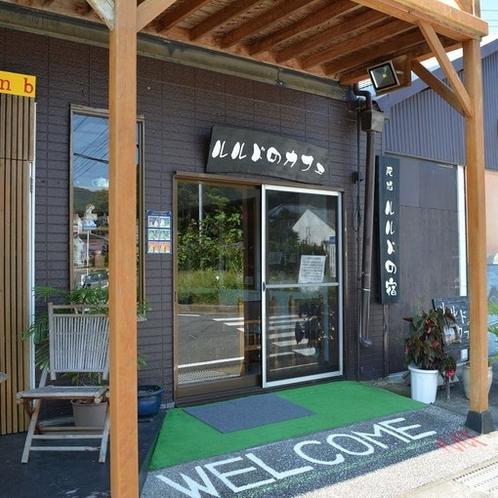 ルルドのカフェ入口