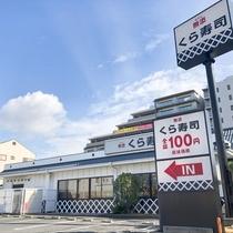 走路8分钟,回转寿司店