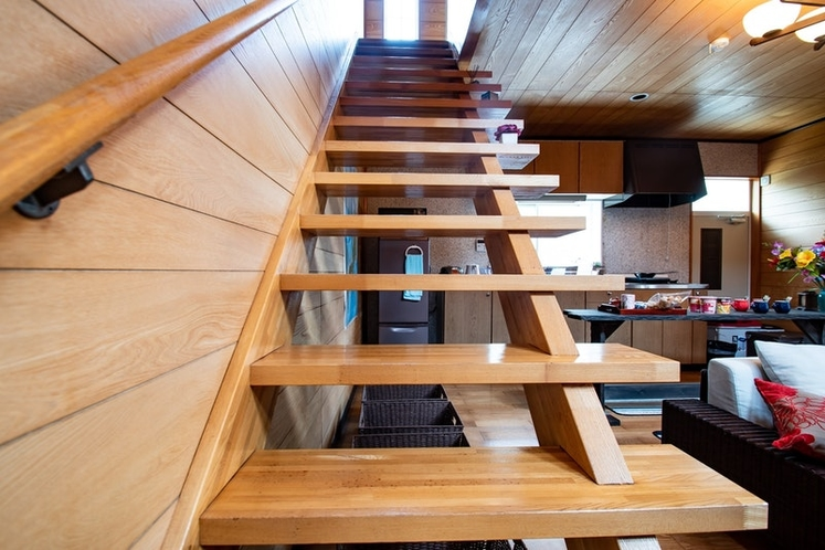 Modern design stairs to the second floor