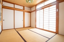 Actually floor is made of Tatami, Japanese style r