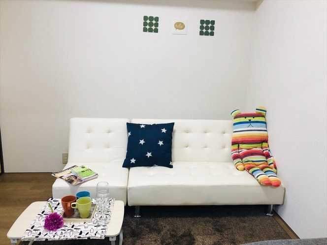 sofa bed .