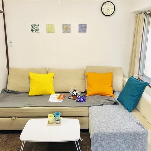 clean sofa bed