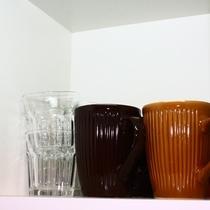 3Fグラス、コーヒーカップ。