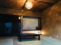 1階宿泊室です。約4名様分の布団が敷けるスペースがあります。