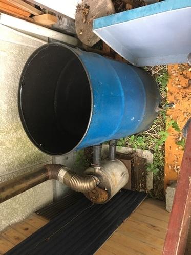 薪、石炭のドラム缶風呂
