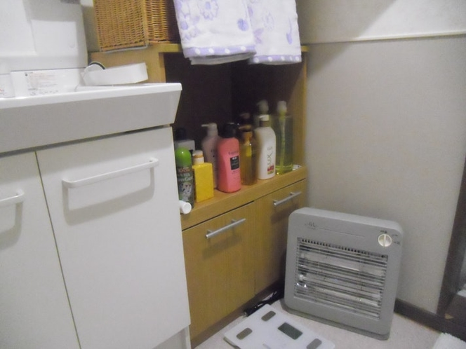 201お風呂の脱衣場です。