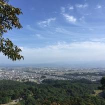 春日山城から From the ruins of Kasugayama Castle