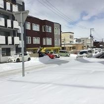 清田の白い雪