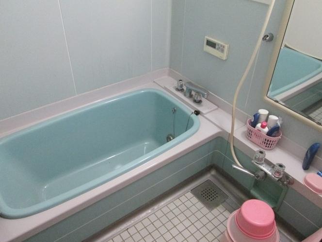 浴室:大型の湯舟です。身体の大きな方でも、足を伸ばしてゆったりと入ることができます。