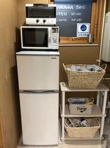 冷蔵庫、レンジ、トースター