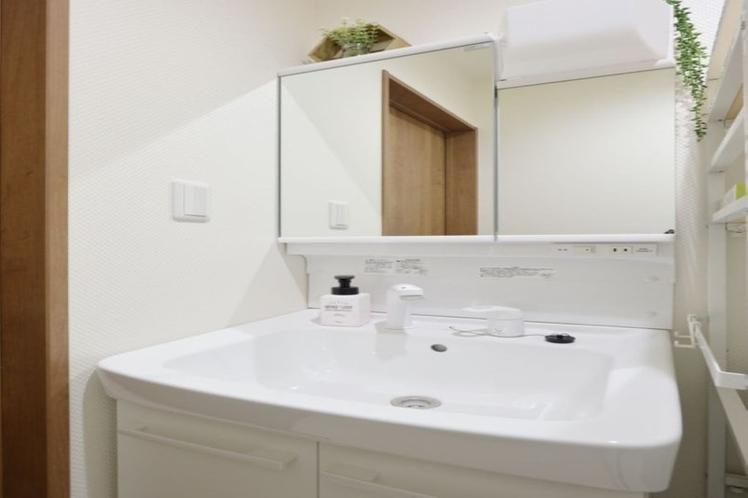 シャワーヘッド付き洗面台