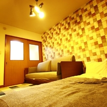 Living room/bed room(TV、bed ×1、sofa bed×1)