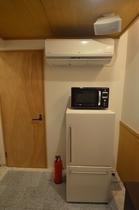 エアコン、電子レンジ、冷蔵庫