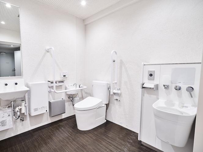 1階に多目的トイレ完備