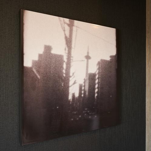客室アートは、8ミリフィルムで撮った京都の写真をアートに。