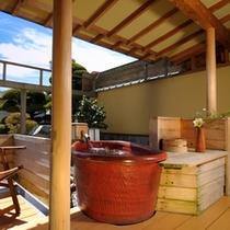 庭園が見える露天風呂付客室102号室