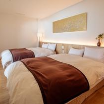 スイートルーム野路菊 ベッドルーム