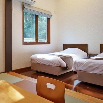 【客室風呂なし】ロフト付き琉球畳の和洋室ツイン(20畳以上)