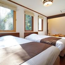 [202]2F:ハンモック&客室天然温泉付きダブルツインベッドルーム