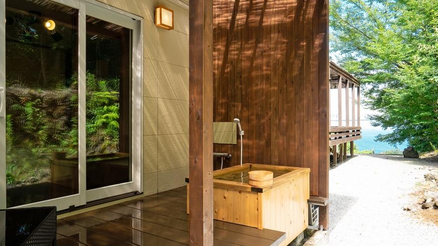 2021年1F天然ヒノキの露天風呂付き客室のテラスとお風呂がリニューアル!